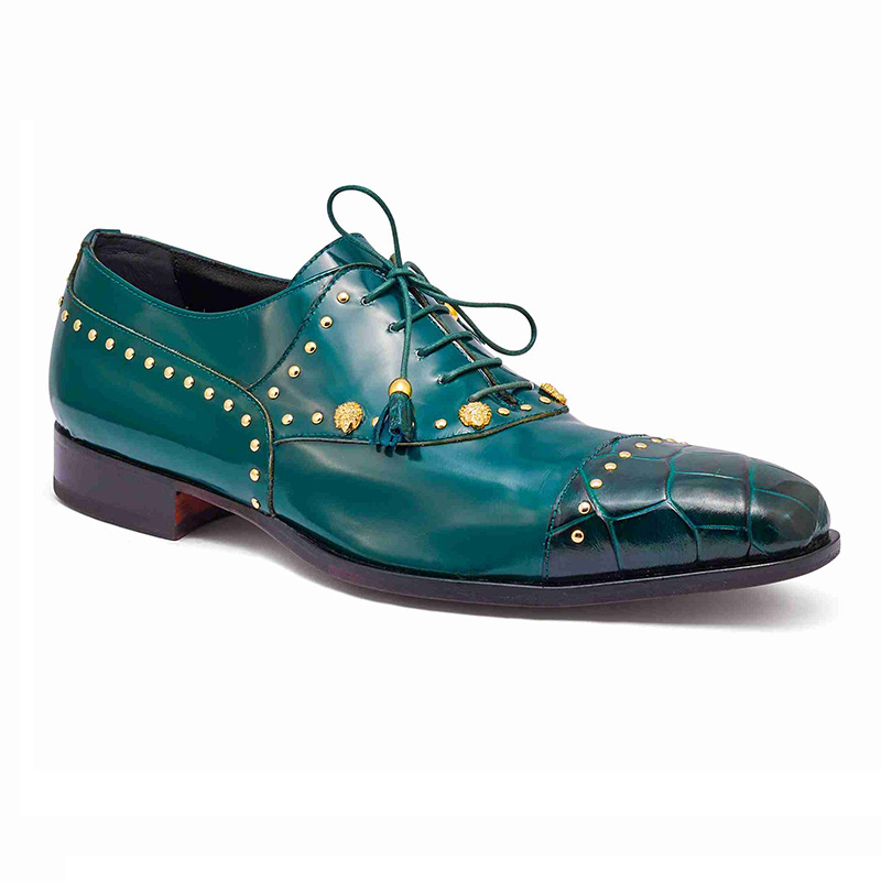 Mauri 4901 Body Alligator / Calfskin Shoes Hunter Green Image