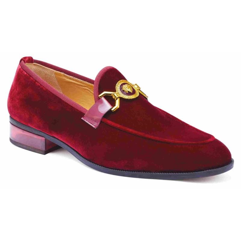 Mauri 4940 Floss Velvet Loafers Burgundy Image
