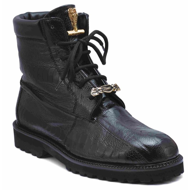 Mauri 4949 Hawk Ostrich Leg Boots Black Image