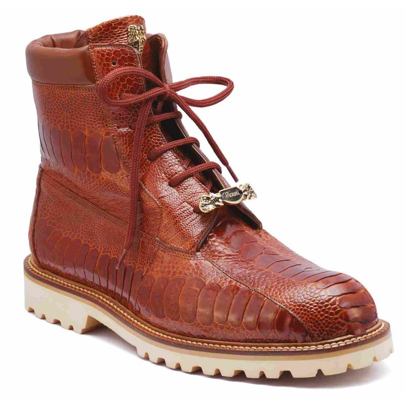 Mauri 4949 Hawk Ostrich Leg Boots Brown (Special Order) Image