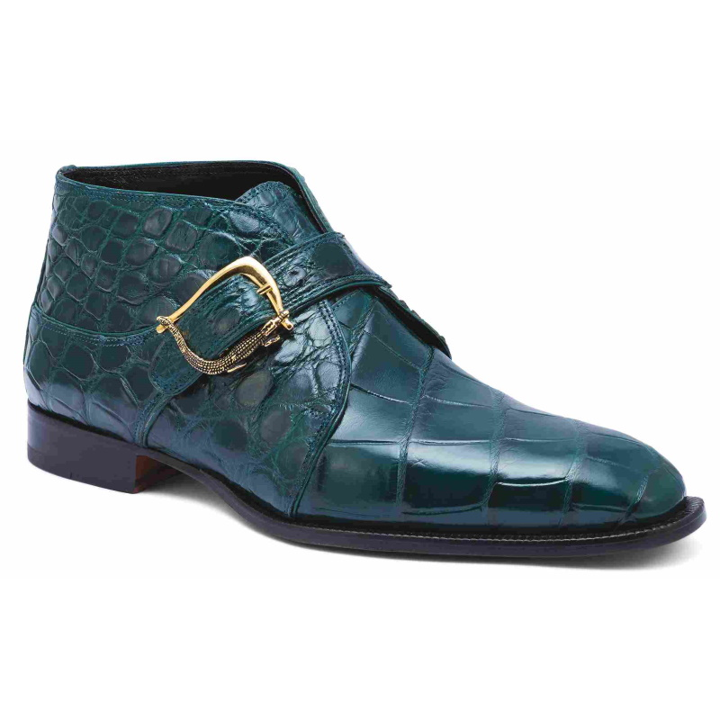 Mauri 4955 Esquire Alligator Boots Hunter Green (Special Order) Image