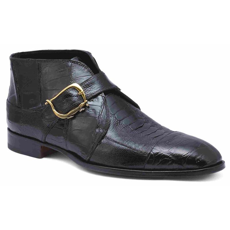 Mauri 4960 Professor Crocodile & Ostrich Boots Black (Special Order) Image
