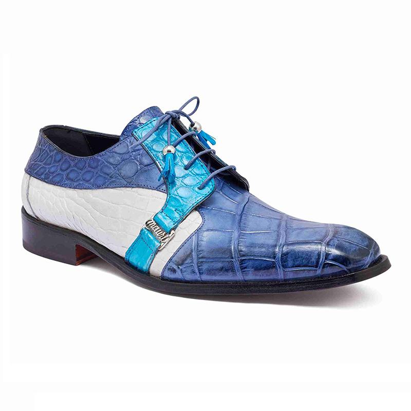 Mauri 4971 Body Alligator Shoes Caribbean Blue / Azure / White (Special Order) Image