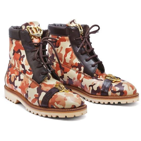 Mauri 4980 Rambo Calf & Crocodile Boots Camo Image