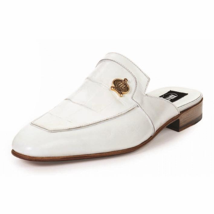 Mauri 4856 Canova Alligator & Calfskin Sandals White (Special Order) Image