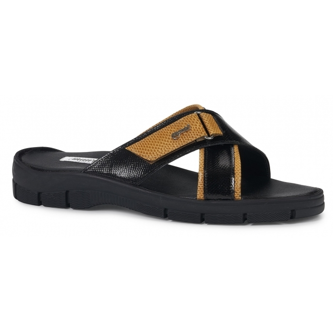 Mauri 5063 Sesia Karung Sandals Black / Orange Image