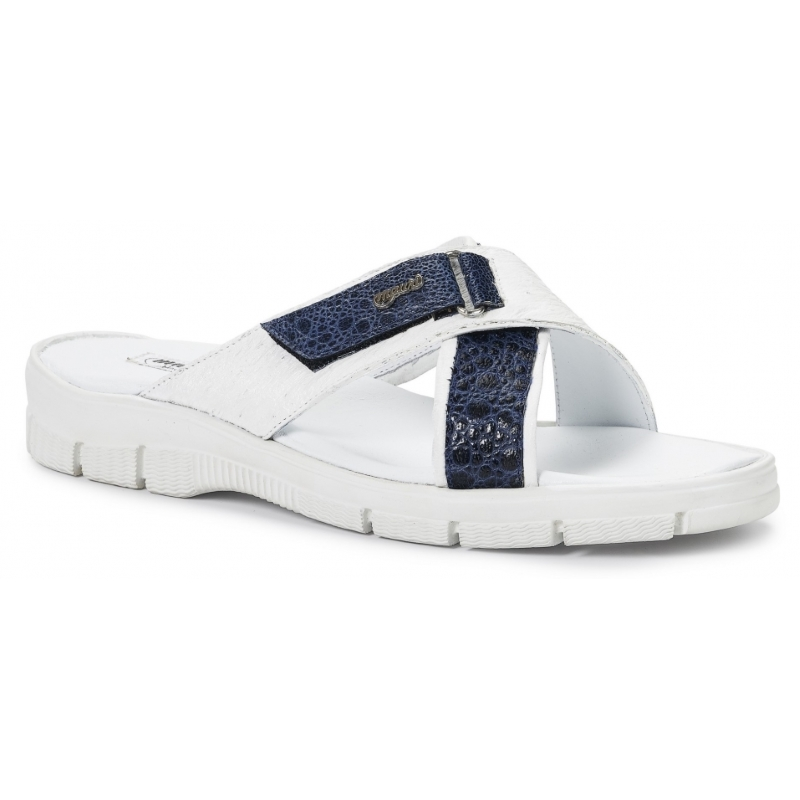 Mauri 5063 Sesia Ostrich & Frog Sandals White / Wonder Blue Image