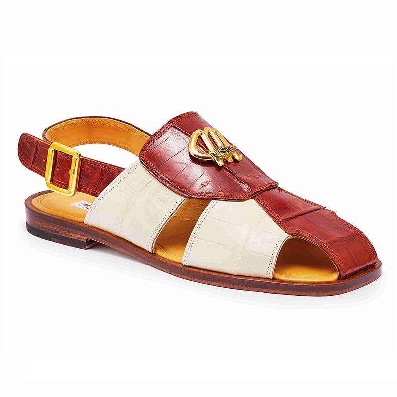 Mauri 5071 Baby Crocodile Sandals Gold / Cream Image