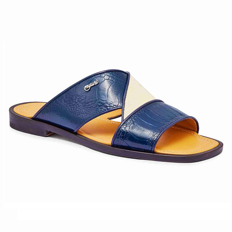 Mauri 5093 Ostrich Leg Sandals Blue / Cream (Special Order) Image