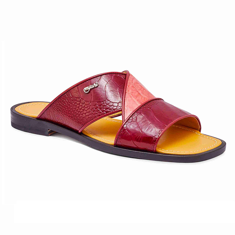 Mauri 5093 Ostrich Leg Sandals Ruby Red / Pink Image