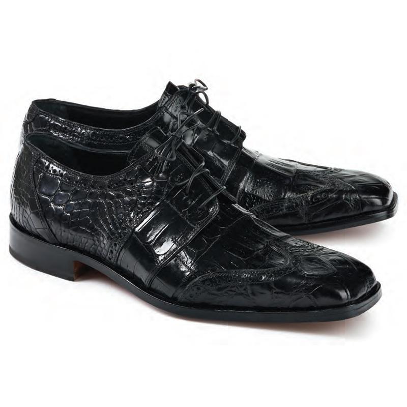 Mauri 53130 Crossroads Alligator & Crocodile Derby Shoes Black Image