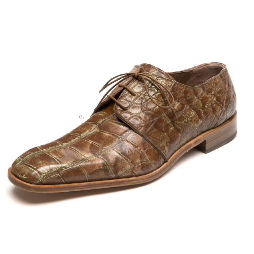 Mauri 53141 Body Alligator Dress Shoes Cognac / Pale Yellow (Special Order) Image