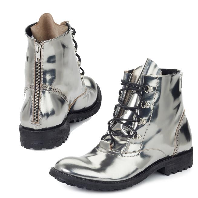 Mauri 53144 Calfskin Boots Metallic Silver (Special Order) Image