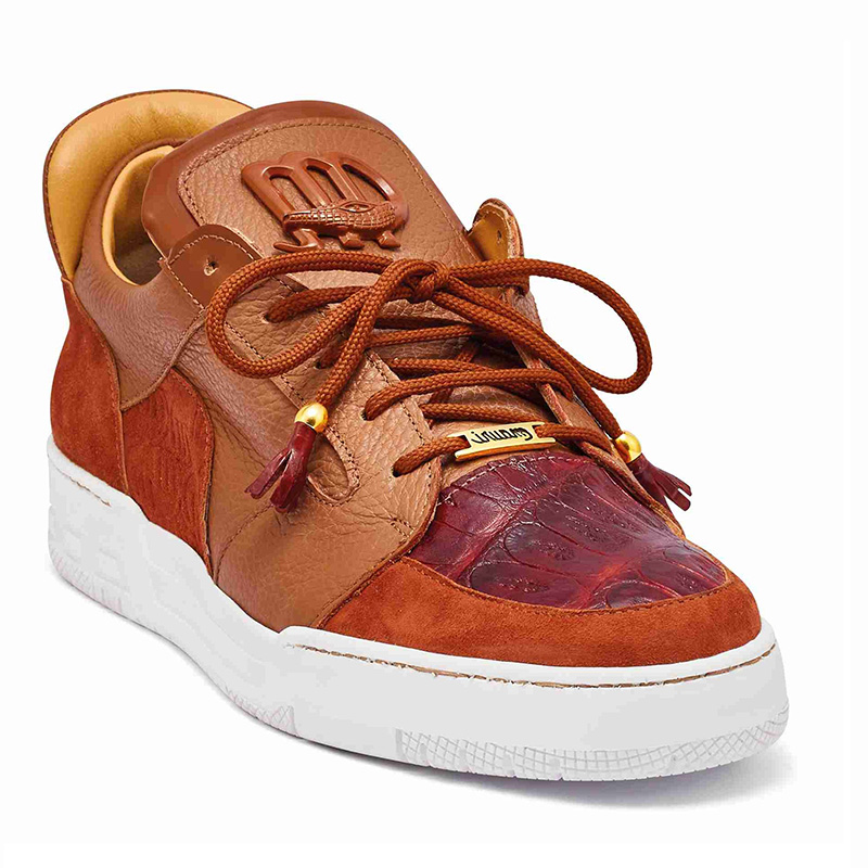 Mauri 8412 Suede / Baby Crocodile / Patent Sneakers Gold (SPECIAL ORDER) Image
