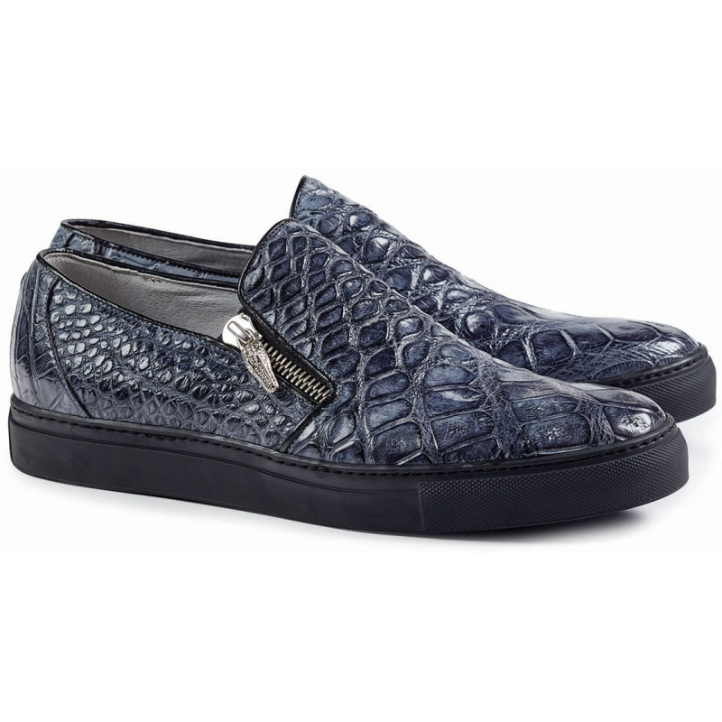Mauri 8508 Alligator Loafers Gray (Special Order) Image