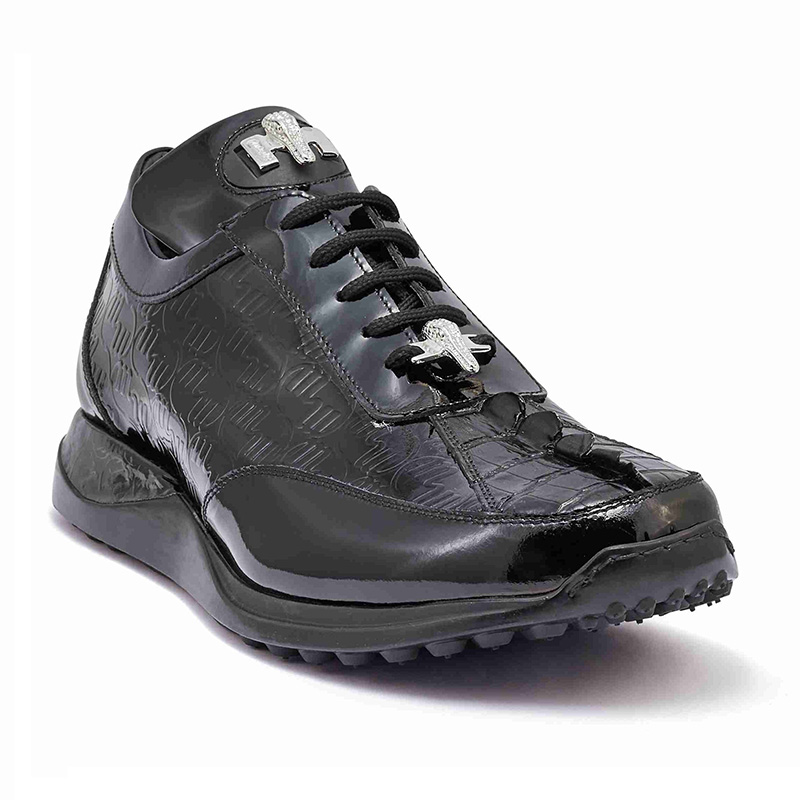 Mauri 8514 Hornback Tail / Embossed Patent Sneakers Black (Special Order) Image
