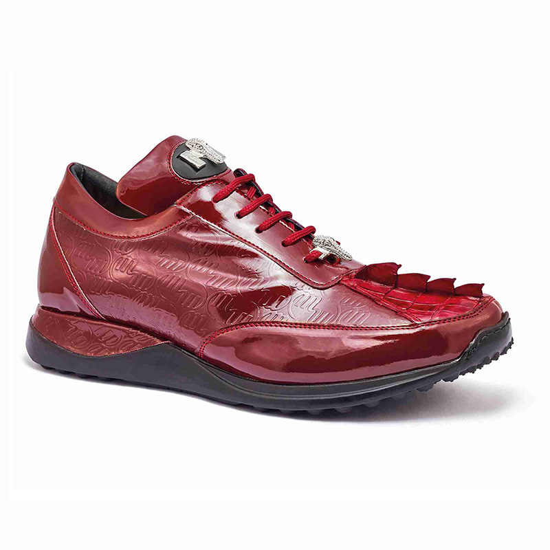Mauri 8514 Hornback Tail / Embossed Patent Sneakers Ruby Red Image
