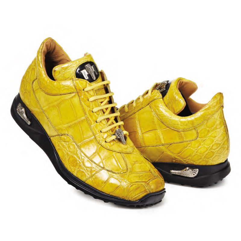 Mauri 8566 Empire Alligator Sneakers Yellow Image
