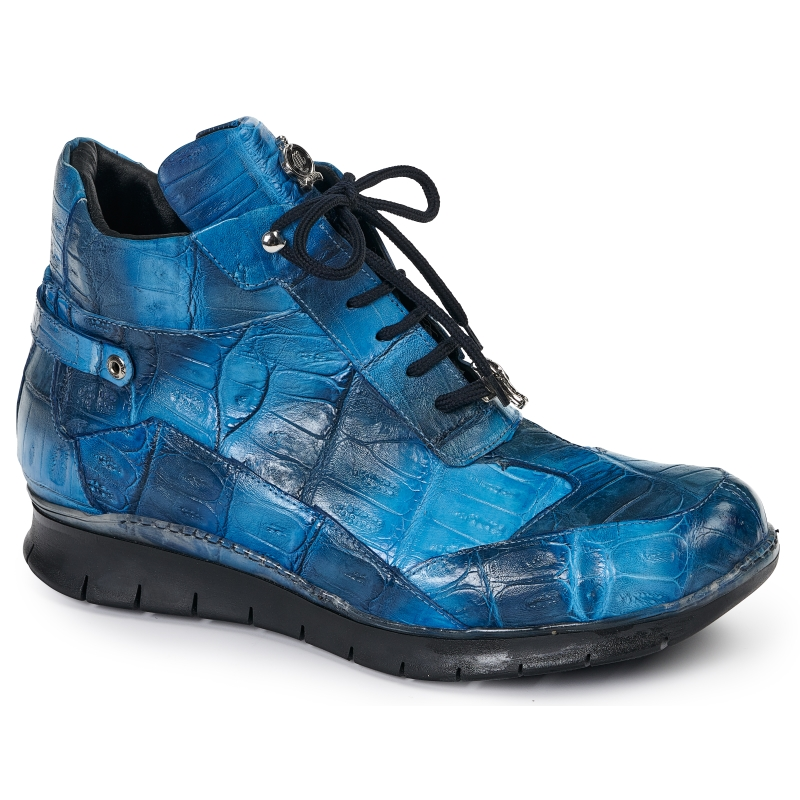 Mauri 8567 Crocodile Sneakers Blue Multi Image