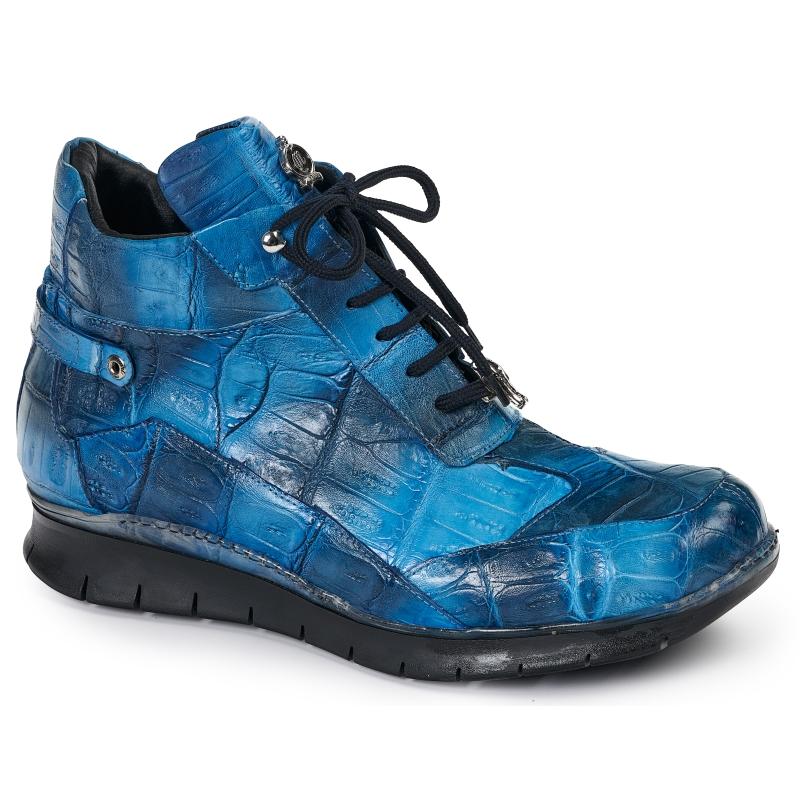 Mauri 8567 Crocodile Sneakers Blue Multi Image