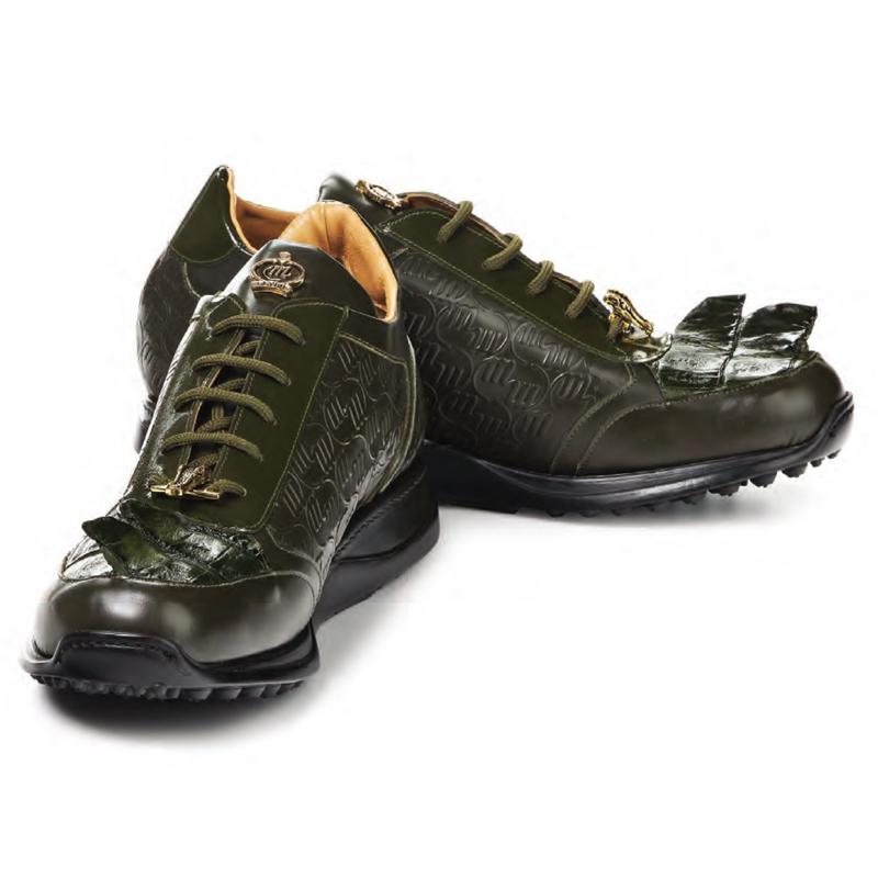 Mauri 8573 Native Calf Hornback Sneakers Olive Image