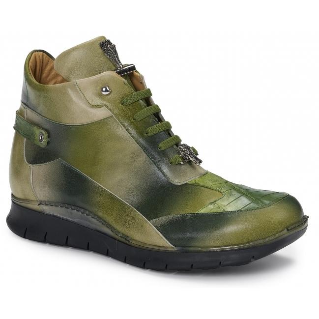 Mauri 8593 Nappa & Crocodile Sneaker Multigreen Image