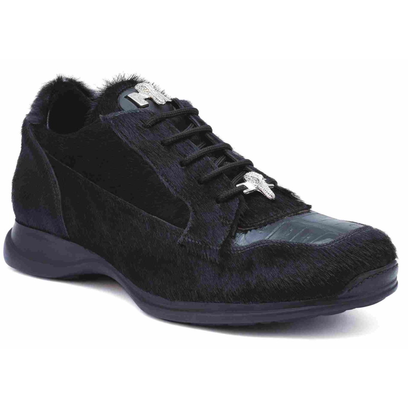 Mauri 8594 Mustang Pony & Crocodile Sneakers Black (Special Order) Image