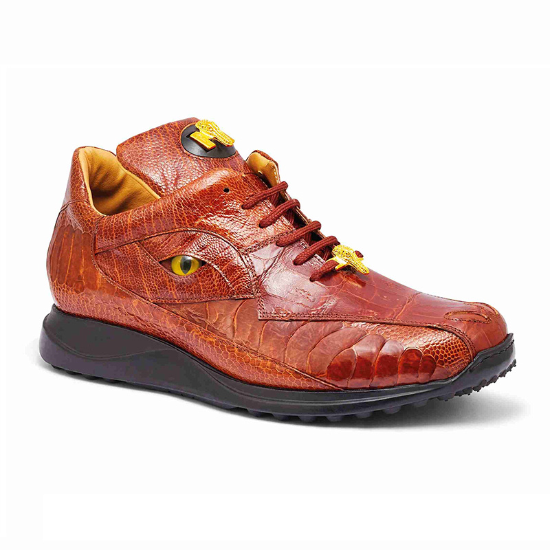 Mauri 8596 Baby Crocodile / Ostrich Leg Sneakers Gold Image