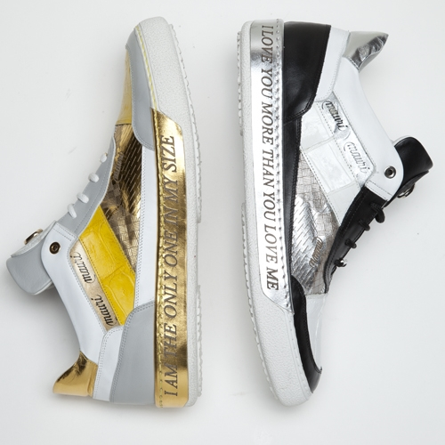 Mauri 8656 Express Nappa & Crocodile Sneakers (Special Order) Image