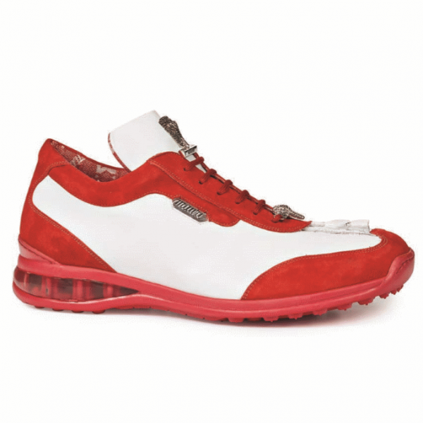 Mauri 8669 Hornback & Suede Sneakers Red/White (Special Order) Image
