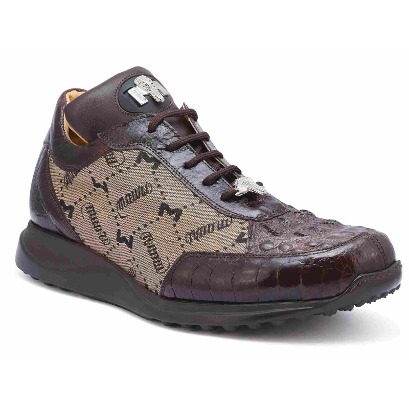 Mauri 8741-2 Ostrich & Hornback Sneakers Brown (Special Order) Image