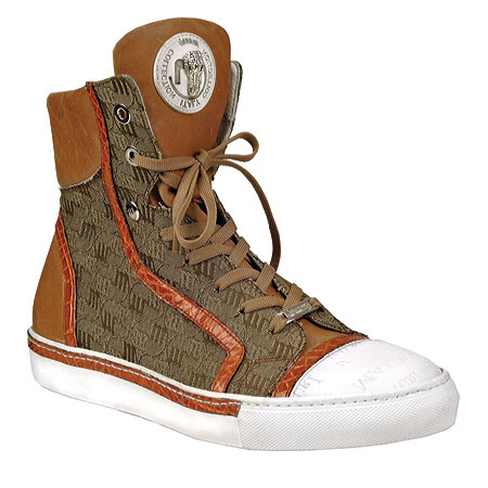 Mauri 8788 Nappa & Fabric Sneakers Cognac (Special Order) Image