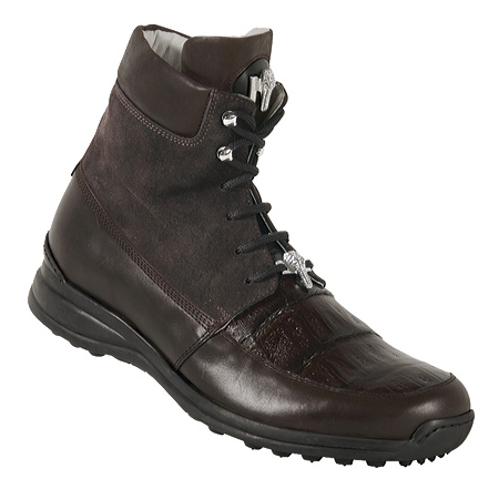 Mauri 8790 Suede & Nappa & Alligator Sneakers Sport Rust Image