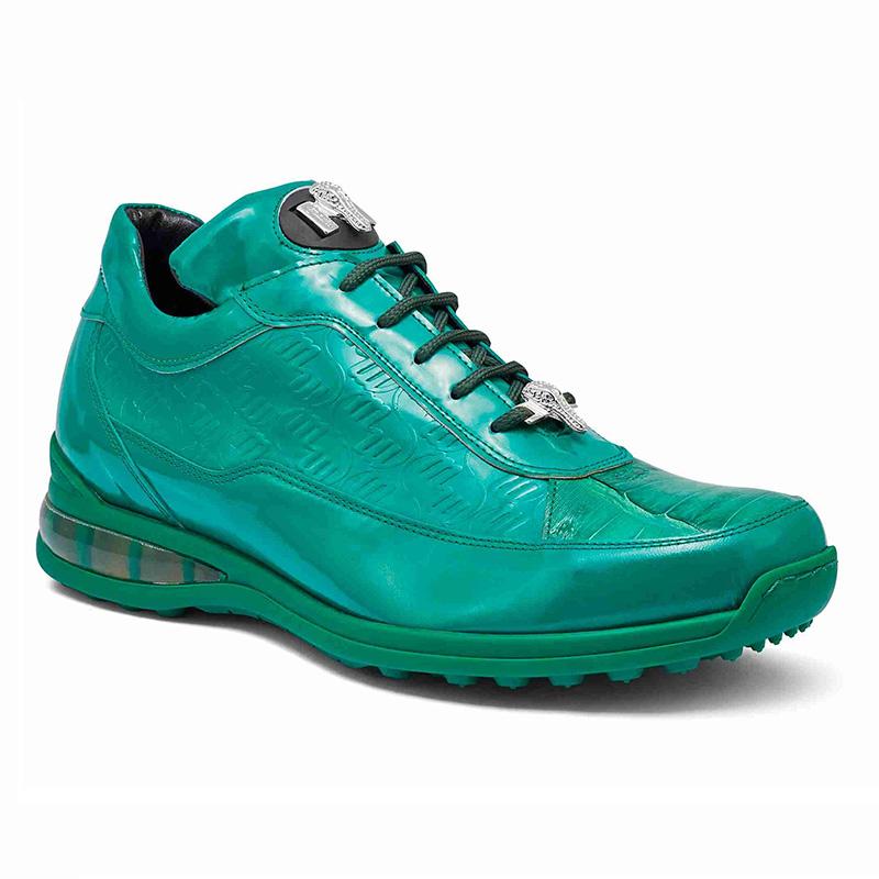 Mauri 8900 2 Baby Crocodile / Embossed Patent Sneakers Leaf Green Image