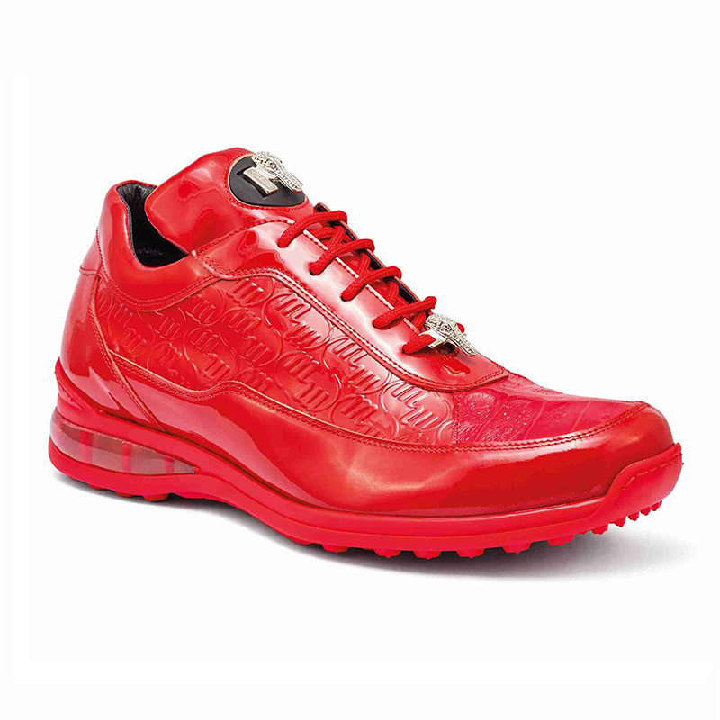 Mauri 8900 2 Baby Crocodile / Embossed Patent Sneakers Red Image