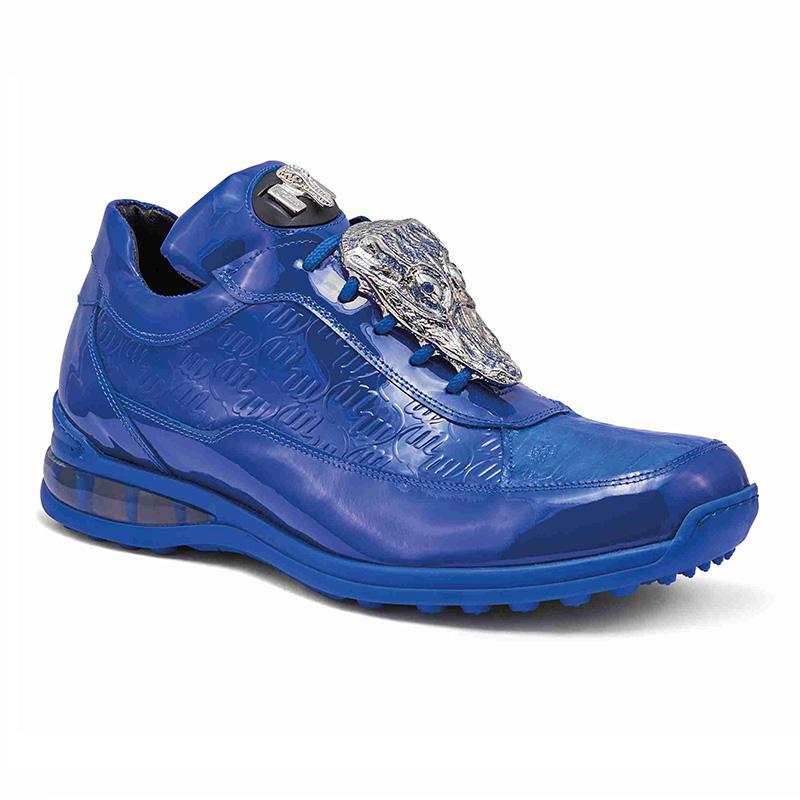 Mauri 8900 2 Baby Crocodile / Embossed Patent Sneakers Royal Blue Image