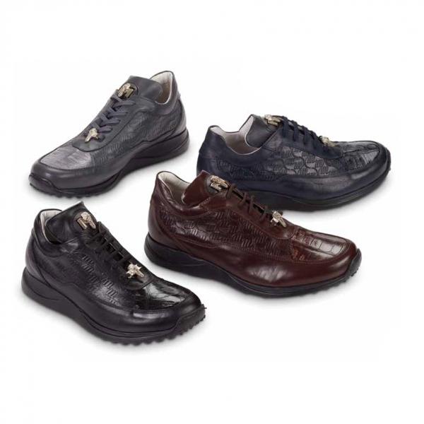 Mauri 8900-2 Nappa & Baby Crocodile Sneakers (Special Order) Image