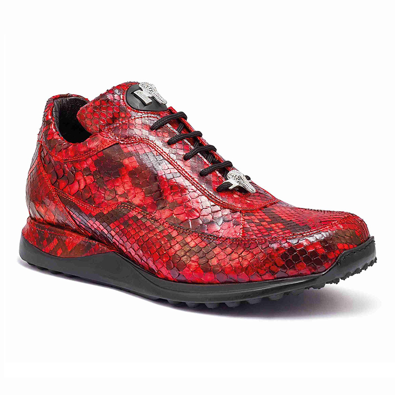 Mauri 8900 2 Python Sneakers Red Image