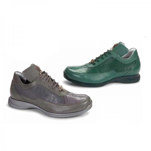 Mauri 8900-8 Nappa \u0026 Crocodile Sneakers