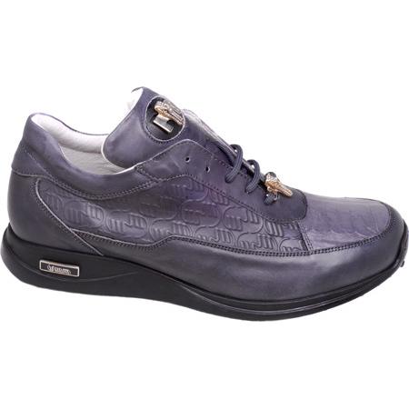 Mauri 8900 Nappa & Croco Sneakers Gray (Special Order) Image