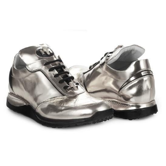 Mauri 8923 Metal Crocodile & Calfskin Sneakers (Special Order) Image