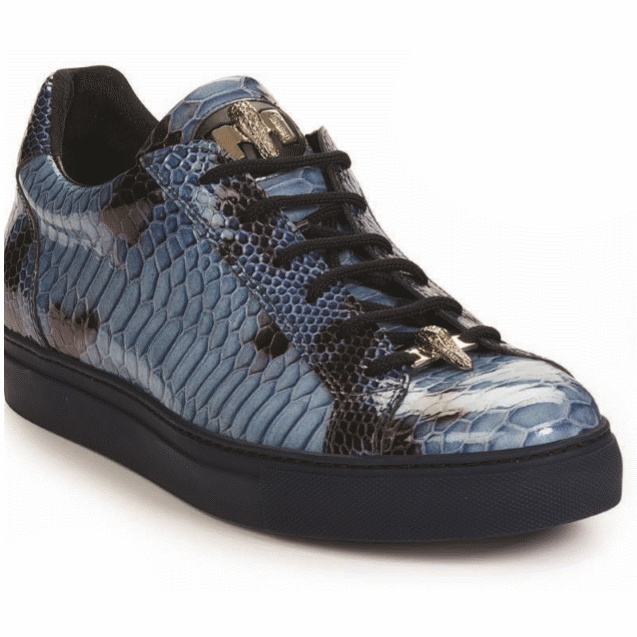 Mauri 8825 Patent Leather Sneakers Blue Image
