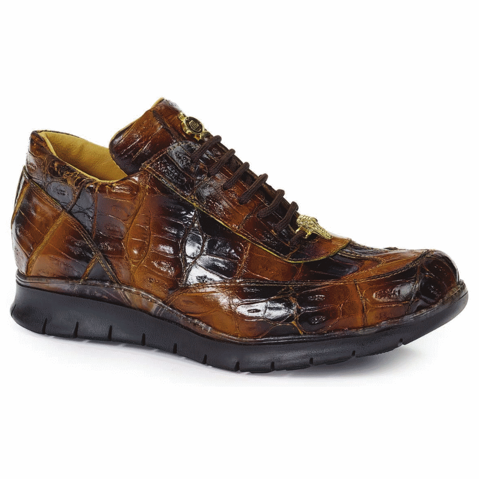 Mauri 8932 Borromini Crocodile Sneakers Corn / Brown (Special Order) Image