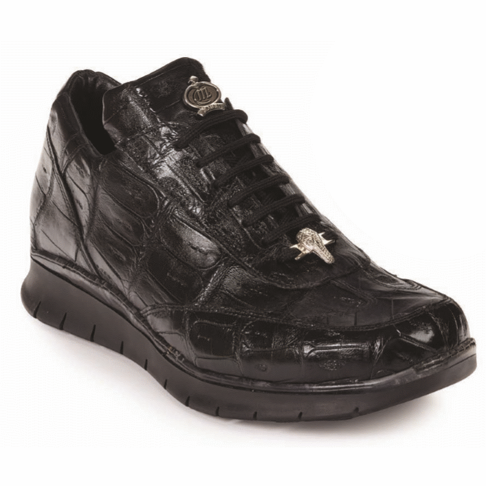 Mauri 8932 Borromini Crocodile Sneakers Black (Special Order) Image
