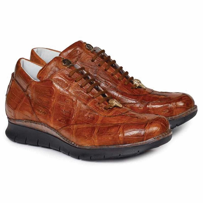 Mauri 8932 Borromini Crocodile Sneakers Cognac (Special Order) Image