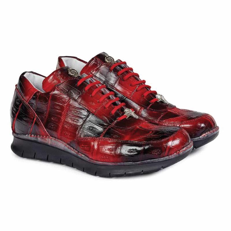 Mauri 8932 Borromini Crocodile Sneakers Red / Black (Special Order) Image