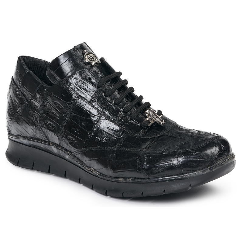 Mauri 8932 Crocodile Sneakers Black Image