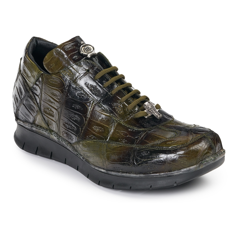Mauri 8932 Crocodile Sneakers Multi Green Image