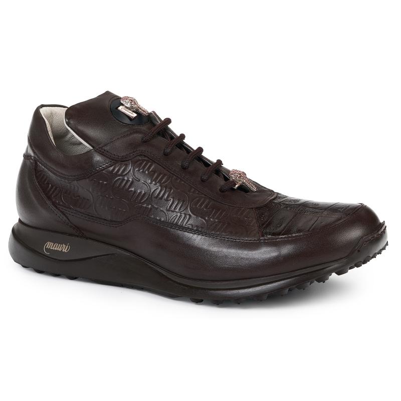 Mauri 8900 Nappa & Crocodile Sneakers Brown Image