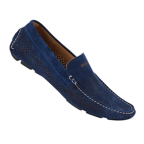Mauri 9225 Mediterraneo Suede Driving Shoes Bluette (Special Order) Image
